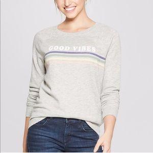 Grayson Threads Good Vibes Rainbow Sweatshirt